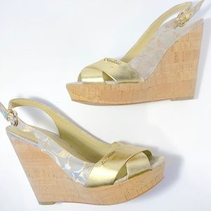 Coach wedge heel sandal size 8